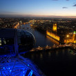 Atardecer en Londres desde el London Eye — Stock Photo