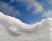 Avalanche on roof window — Stock Photo
