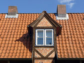Dormer on an old roof — Stock Photo