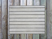 Wooden memo board — Foto Stock