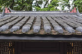 Chinese traditional tile roof in — Stok fotoğraf