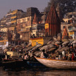 Crown of on the Gang river, India. - Stock Photo