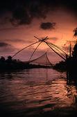 Fishing in twilight — Stock Photo