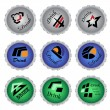 Vector set of bottle caps — Stock Vector