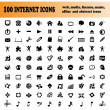 Hundred vector icons — Stock Vector