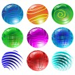 Vector shiny spheres - Stock Vector