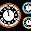 Stock Vector: Vector clock