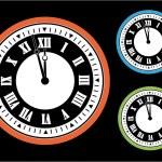 vektorové hodiny — Stock vektor