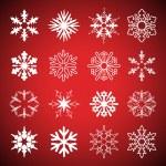 Vector conjunto de copos de nieve — Vector de stock  #11553726