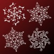 Vector set of snowflakes — Stock Vector #11553877