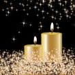 Vector candles on the star background — Stock Vector