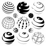 Vector globes — Stock Vector #11554225