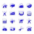 vector stickers voor web icons — Stockvector  #11554241