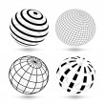Vector globes — Stock Vector #11554244