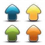 Vector arrow buttons — Stock Vector #11554991