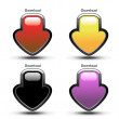 Vector download buttons — Stock Vector #11555002
