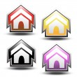 Vector buttons of home — Stock Vector #11555024