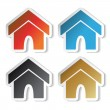 Vector home stickers — Stock Vector #11555270