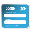 Vector login form - Stock Vector