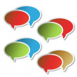 Vector stickers of speech bubbles — Stock Vector