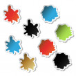 Vector splotch stickers — Stock Vector