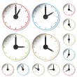 Vector clocks - Vettoriali Stock