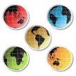 Vector stickers of globe — Stock Vector