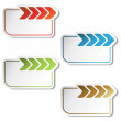 Vector labels with arrow — Stock Vector #11555940