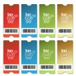 Stock Vector: Vector shopping tickets