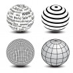 Vector globes — Stock Vector
