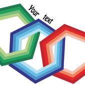 Vector hexagon design — Stock Vector