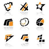 Logoları vektör kümesi — Stok Vektör