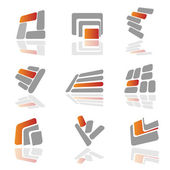 Collection of vector symbols — Stock Vector