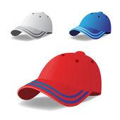 Vector set of caps — Stock Vector