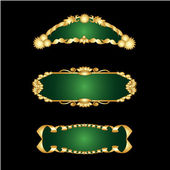 Vector set of golden frames — Stock Vector
