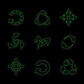 Conjunto de vectores de flechas — Vector de stock