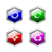 Vector conjunto de botones — Vector de stock