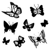 Vector set of butterflies — Stock Vector
