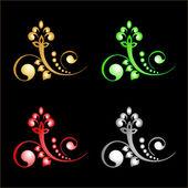 Vektorové ornamenty — Stock vektor