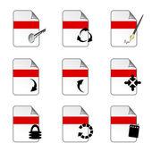 Vector document icon templates — Stock Vector