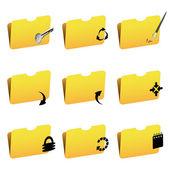 Vector folder icons — Stock Vector