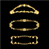 векторный набор золотых рамах — Cтоковый вектор
