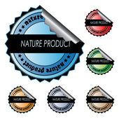 Vector stickers - nature product — Vetorial Stock