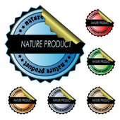 Vector stickers - nature product — Vettoriale Stock