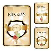 Dondurma etiketler vektör — Stok Vektör