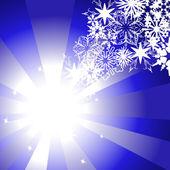 Vektor weihnachten Hintergrund mit Schneeflocken — Stockvektor