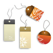 Vector christmas tags — Stockvector