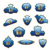 Vecteur étiquettes royal — Vecteur