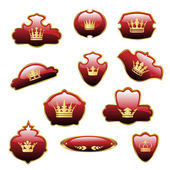 Vektor royal etiketter — Stockvektor