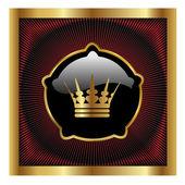 Vektor royal etikett — Stockvektor